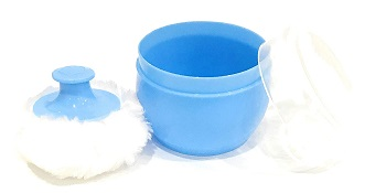 Baby Powder Puff with Box Holder Container