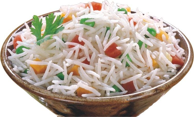 Bowl full of Cooked Basmati Rice