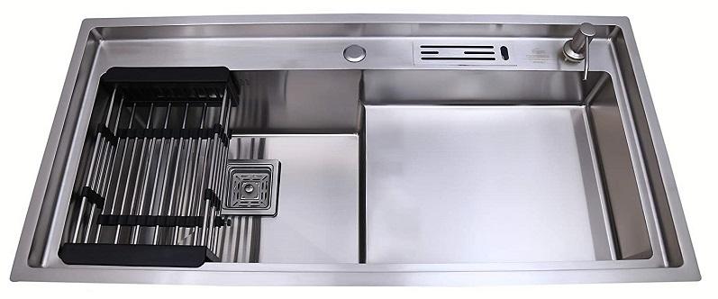 CROCODILE SS-304 Grade Single Bowl With STEP Kitchen Sink