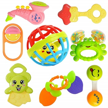 Colourful Teether and Rattle for New Borns