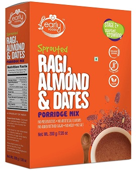 Early Foods Sprouted Ragi Almond Date Porridge Mix