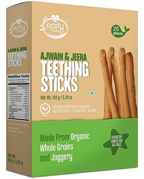Early Foods Whole Wheat Ajwain Jaggery Teething Sticks