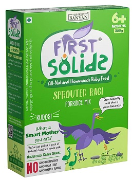 First Solids Organic Baby Food Sprouted Ragi Porridge
