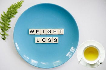 Green tea suggesting weight loss