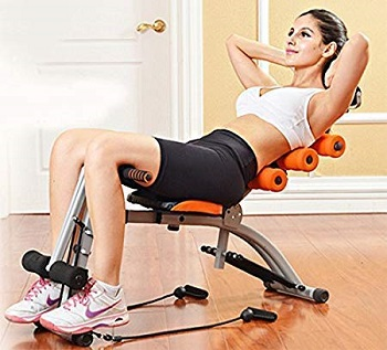 HNESS Six Pack Abs Exerciser Machine for Exercise and Fitness Without Cycle for Home and Gym