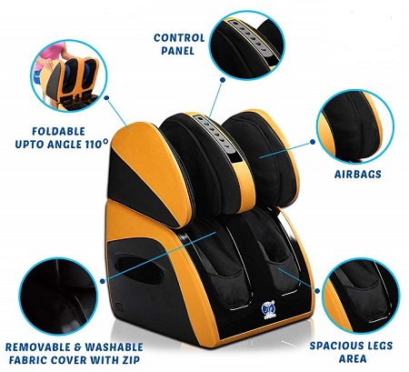 JSB HF111 Leg Foot Massager Machine for Kneee Heating and Pain Relief