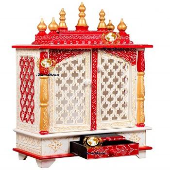 Kamdhenu art and craft Wooden Home Temple