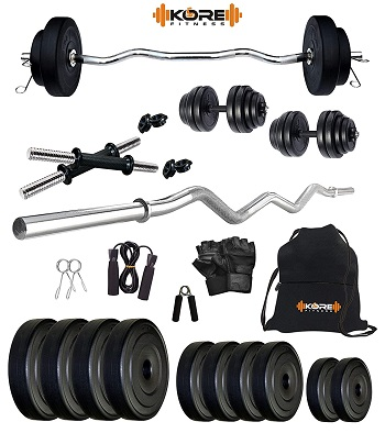 Kore K-PVC 20kg Combo 3 Leather Home Gym and Fitness Kit