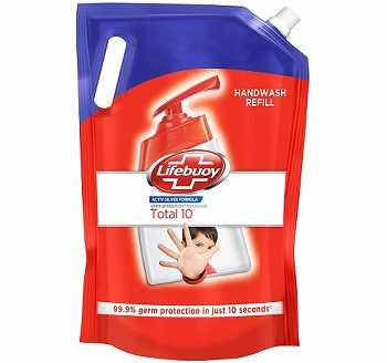 Lifebuoy Total 10 Active Silver Formula-Germ Protection Handwash