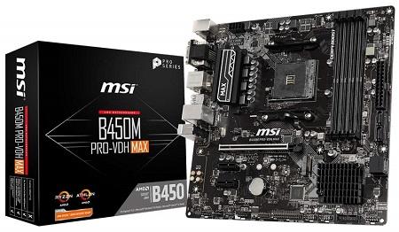 MSI B450M PRO-VDH MAX Gaming Motherboard