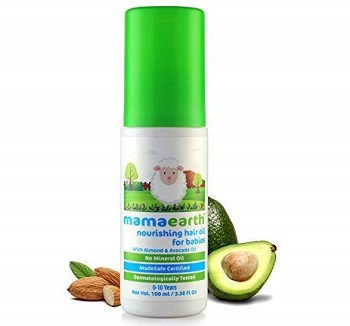 Mamaearth Nourishing Baby Hair Oil with Almond & Avocado
