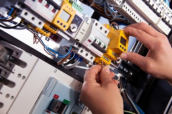 Man checking the home electricity wiring