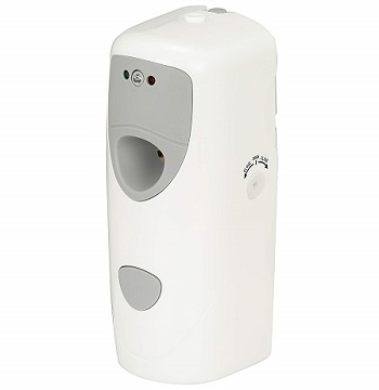 Metered aerosol time-operated mist dispensers