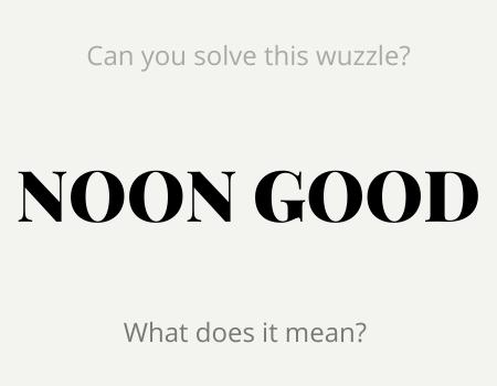 NOON GOOD Wuzzle Puzzle