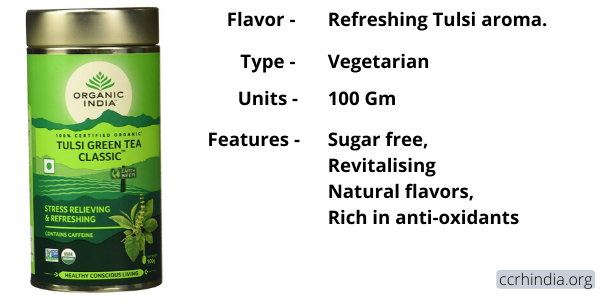 Organic India Classic Tulsi Green Tea