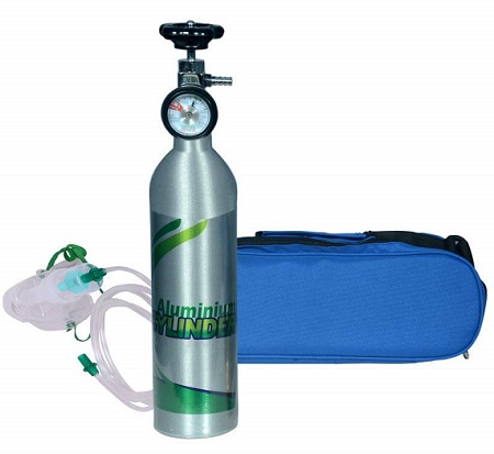 OxyKit Portable Light Weight Oxygen Cylinder Kit