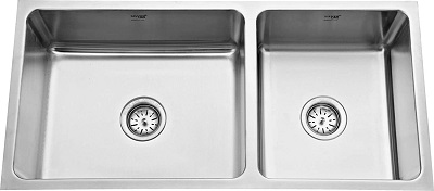 SILVER LINE Low Radius Double Bowl Stainless Steel Sink
