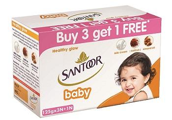 Santoor Baby Soap with Milk Cream
