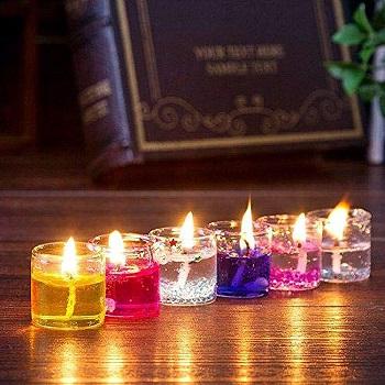 Small Multicolour Smokeless Gel Candles for Home Decor Diwali