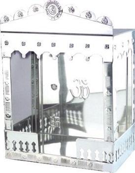 Spangle Stainless Steel Decorative Mandir