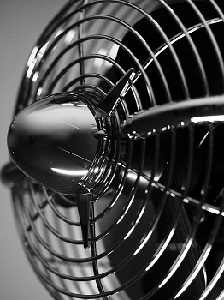 Table fan with strong grills