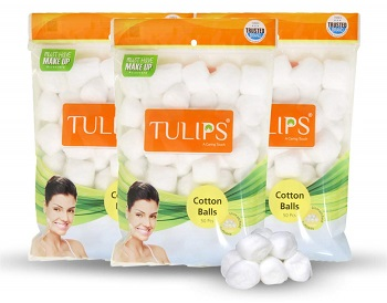 Tulips White Cotton Balls for Baby