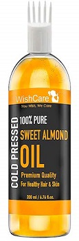 WishCare Pure Cold Pressed Sweet Almond Oil for Baby Massage