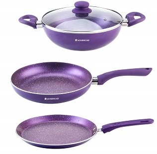 Wonderchef Orchid Non-Stick Cookware Set