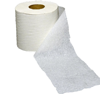 single ply toilet paper roll